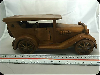 Vintage Wooden Car Model Rolls Royce Handmade, High quality, Moving or Display 3