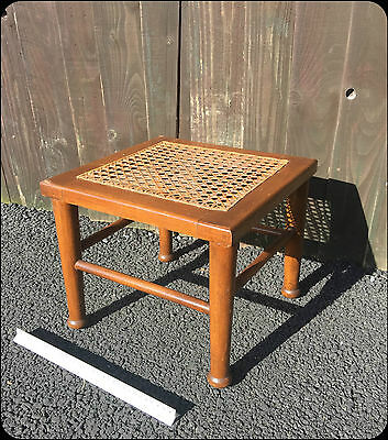 Antique Wooden Hand Woven Ornate Square Stool  Foot Rest