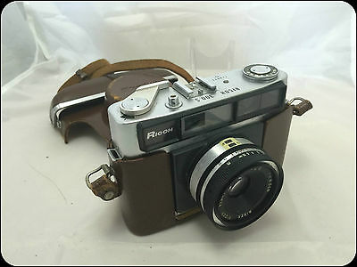 Ricoh 300 S Riken 119971 Camera with Leather case  Vintage Retro Original