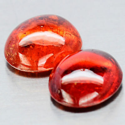 TOP SPESSARTINE : 6,18 Ct Natürlicher Orange Rot Spessartin / Spessartit Granat