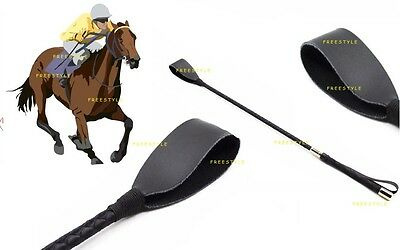 Leather Whip Special LEATHER RIDING CROP Horse riding Flogger Whip Restraints^