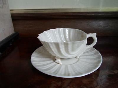 Belleek Second Period Neptune Cup and Saucer c.1891-1926
