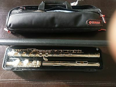 yamaha silver & nickle mix + flute soft & hard case
