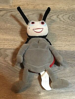"""Official Disney Bugs Life 'Francis' 8"""" Soft Toy Plush- Good Condition- Lady Bug"""