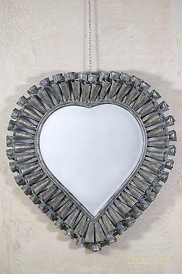 DUSX Fluted Heart Vintage Bronze Large Metal Overmantle Mirror W97 x H104cm