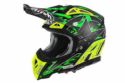2016 Airoh Aviator 2.2 Rep. Phillips Motocross Helmet Gold Stamped Approved