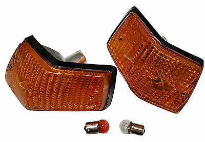 ukscooters VESPA PX LML T5 ORANGE REAR INDICATORS WITH ORANGE BULBS PAIR