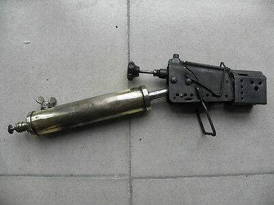 ANTIQUE tool SOLDERING OLD WELDING  BRASS BLOWTORCH TORCHES COPPER express train