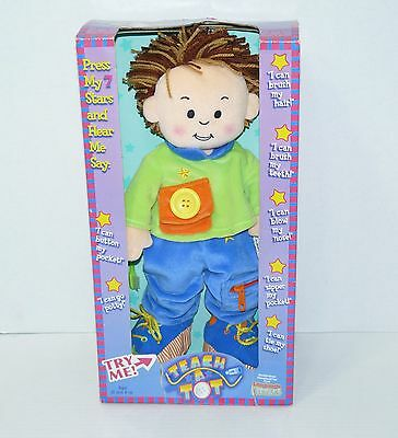 New TEACH A TOT Talking Learning Activity Doll Toy Teaching Language Littlles