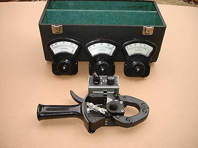 Columbia Electric Tong Test Types AM CM DM Ammeters 20 50 100 Meters & Case