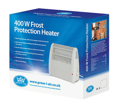 Prem-I-Air 400W Home Caravan Garage Shed Frost Ice Damp Protection Heater