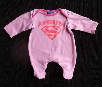 Baby clothes GIRL premature/tiny<7.5lb/3.4kg Mothercare Superbaby pink babygrow