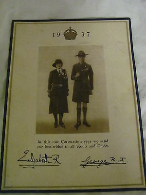 George Vi Coronation Year 1937 Programme Rally & Display Girl Guides Wembley