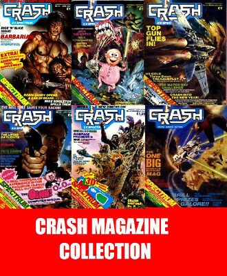 CRASH Magazine Collection Complete All 98 Issues on DVD Sinclair Spectrum Gaming