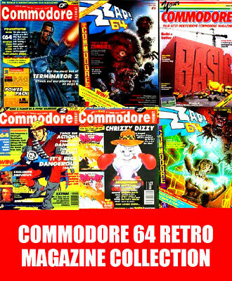 Retro C64 Pack Zzap, Your Commodore, Commodore Format & Commodore User On 4 Dvd