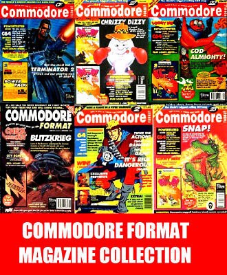 Commodore Format Magazine Complete Collection Full 61 Issues on DVD & extras