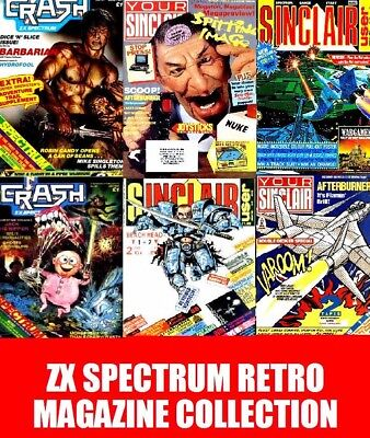 YOUR SINCLAIR SINCLAIR USER & CRASH ZX SPECTRUM Magazines 3 Pack Complete on DVD