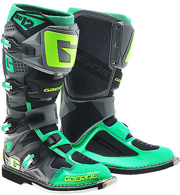 Gaerne Sg12 Mx Boots Green, Motocross, Enduro, Trail & Off Road Boots