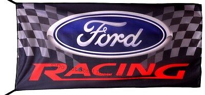 FORD RACING FLAG BANNER  NEW escape explorer fusion 5 X 2.45 FT 150 X 75 CM