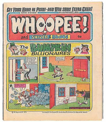 Whoopee! 6th Sept 1975 (very high grade) Frankie Stein, Scream Inn, Spy School