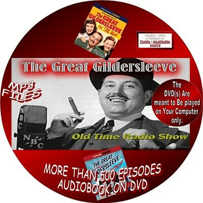 Great Gildersleeve Old Time Radio Shows/500 Episodes-Audiobook On Dvd,Mp3