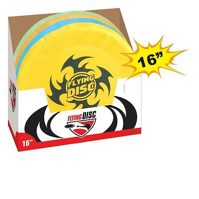 """Large 16"""" Flying Disc Frisbee Kids Adults Outdoor Party Beach Summer Play Toy"""