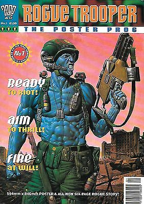 Rogue Trooper Poster Prog 1 (1993) 6pg new strip + 594x840mm Chris Weston poster