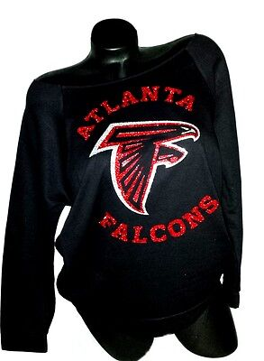 Atlanta Falcons Black Scoop Neck Rawedge Terry Lt.Wt.Jersey 3/4 Sleeve!!!
