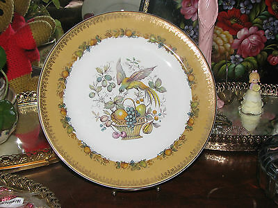 Wood And Sons Burslem England Bird Of Paradise Fruit Basket Alpine White Plate
