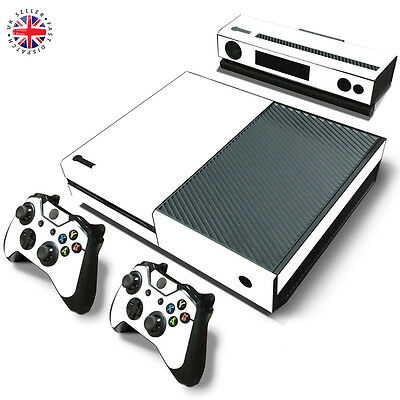 WHITE XBOX ONE Wrap Skin Sticker Dust Cover CONSOLE + CONTROLLERS + KINECT