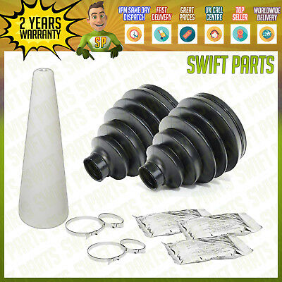 New Universal Stretch Cv Joint Driveshaft Cv Boot Kits Cone Grease Clamps