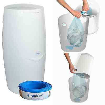 Nappy Disposal System Angelcare Easy Use Multi Layer Bag Kitchen Bin Hygienic