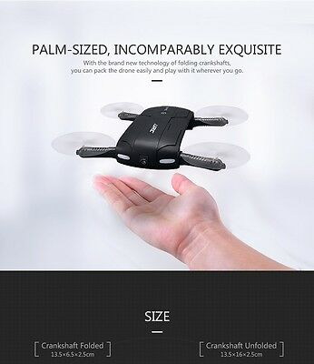 Quadcopter Selfie Drone Foldable Mini Drones with Camera HD RC Drone Helicopter