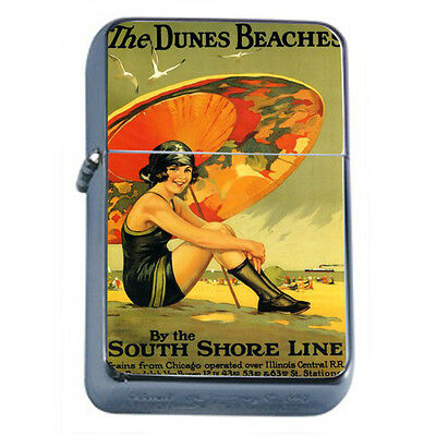 Vintage Poster D27 Windproof Dual Flame Torch Lighter The Dunes Beaches Retro
