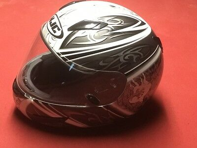 Helmet,black/white/silver Graphics, Hjc-Cl-15 Xs