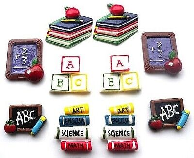 School Education Teacher Flatbacks - You Get 10 - Mixed Education Embellishments