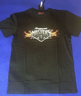 Snap On Masters of Metal Large L T-Shirt 100% Cotton NEW Birthday Gift T SHIRT