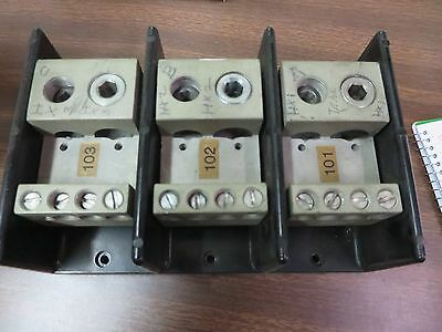 Bussman Used Distribution Terminal Block 16527-3  600v 600a