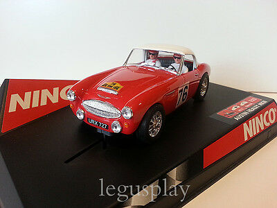 "SCX Scalextric Slot Ninco 50296 Austin Healey Hard top ""Liege"" Nº76- New"