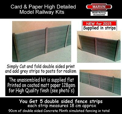 Model Railway Fencing 00 Gauge - Suits Hornby - Scenery / Concrete Fence Kit