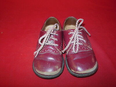 1L BM Vintage Pair BUSTER BROWN Boys Childrens Dress Shoes With Logo!