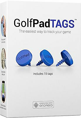 GOLF TAGS Real-Time Golf Tracking & Game Analysis System Blue