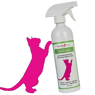 CatFresh Natural Oatmeal Skin & Coat Spray Effectively Soothes Irritations Mo...