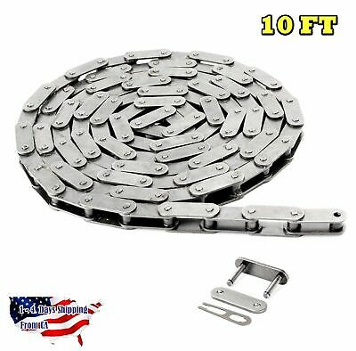 #C2080SS Stainless Steel Conveyor Roller Chain 10 Feet with 1 Connecting Link
