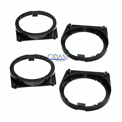 "2X Front Door Speaker Adapter Bracket Plate 5 1/4"" to 6 1/2"" for Honda Accord"