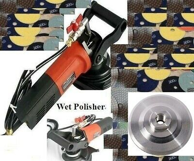 "4"" to 5"" Variable Speed Concrete Cement Wet Polisher Grinder Diamond Pad Granite"