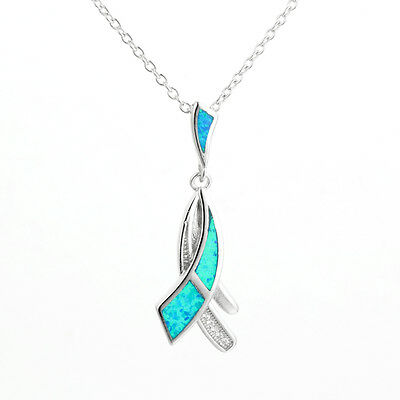 925 Sterling Silver Opal tie Pendant, Chain sold separately