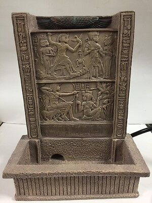 Vintage Egyptian Water Fountain Tabletop Indoor Decor 1970  Made In Egypt