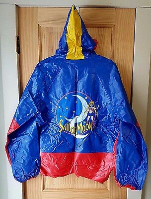 Sailor Moon Blue & Red Pvc Special Edition The Home Game Graphic Rain Coat Sz 14