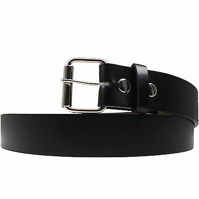 Men's Casual Black Dress Leather Belt w/ Buckle New 34 36 38 40 42 44 up to 52